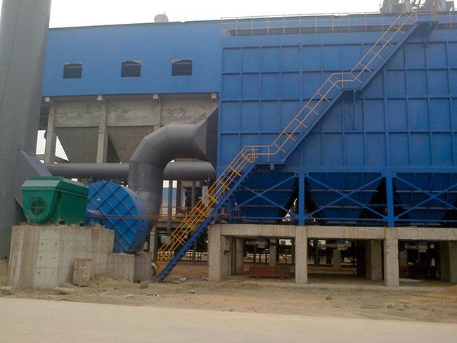 济南唐冶热源厂布袋除尘器